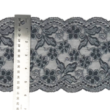 "Load image into Gallery viewer, Stretch Lace #213, 5 1/2"" Deep Platinum Grey"