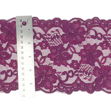 "Load image into Gallery viewer, Stretch Lace #214, 5 3/4"" Plum"