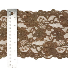 "Load image into Gallery viewer, 5 3/4"" Mocha Stretch Lace # 216"