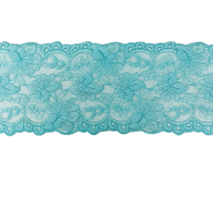 "Stretch Lace #217, 5 3/4"" Aqua"