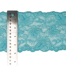"Load image into Gallery viewer, Stretch Lace #217, 5 3/4"" Aqua"