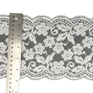 "5 7/8"" White Floral Stretch Lace # 220"