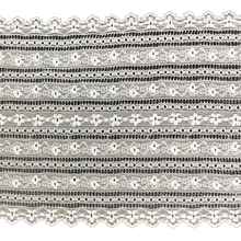 "Load image into Gallery viewer, Stretch Lace #223, 6"" White and Dyeable Banded lace"