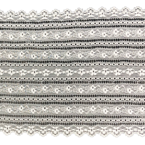 "6"" White Banded Stretch Lace # 223"