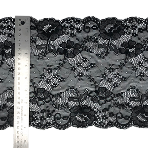 "9 3/8"" Black Stretch Lace # 224"