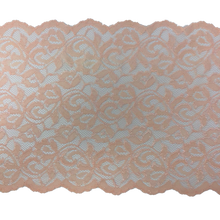 "Load image into Gallery viewer, 9"" Peach Stretch Lace # 226"