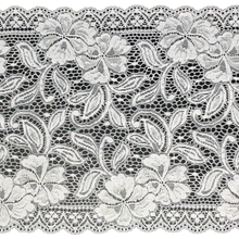 "Load image into Gallery viewer, 9"" White Stretch Lace #228"