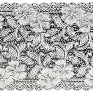 "9"" White Stretch Lace #228"
