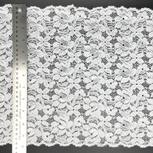 "Load image into Gallery viewer, 12"" White Stretch Lace #229"