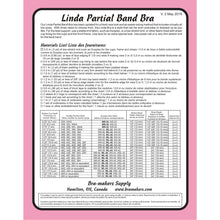 Load image into Gallery viewer, Linda Partial Band Bra Pattern