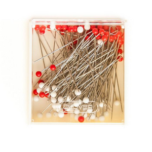 Glass Head Silk Pins