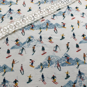 Sun Valley Mountains Bamboo Jersey Print Half Yard
