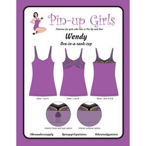 Wendy Bra Tank Top Bra Pattern