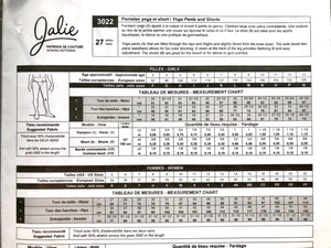 Jalie Yoga Pants and Shorts Pattern 3022