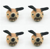 Four (4) Pieced Brown Fox Head Dog Toy