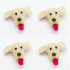 Four (4) pieces of Dog Head Felt Dog Toys
