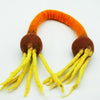 Combo Package of Four Wool Felted Dog Toys-2 Ring, 1 Tug and 1 Bone