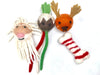 Four Packet Wool Dog Toys- 2 Animal's Heads, Bone and Ball Woolen Dog Toys,