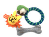 Four Wool Felted Dog Toys-Bone, Ring, Fruit Dog Toy and Animal Head Toys