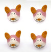 Four (4) Products Set-Fox Head Woolen Dog Toy