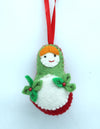 Woolen Matryoshka Doll-Handmade Christmas/Xmas tree Hanging Decoration Ornaments