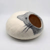 Cat design Woolen Felt Cat Cave-Cat Bed- 100%  Cat Bed