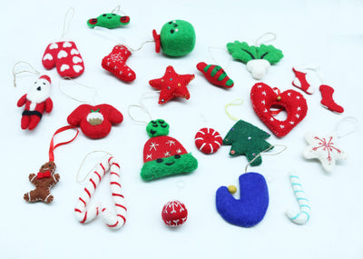 20 PCS Mixed-Designated and Lovely Handmade Christmas/Xmas Tree Hanging Ornaments Decoration