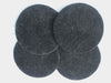 Felted Wool Natural Charcoal Seat Cushions