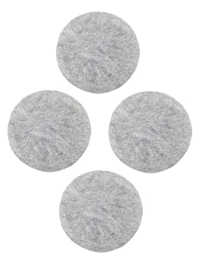 Felted Wool Natural Grey Seat Cushions