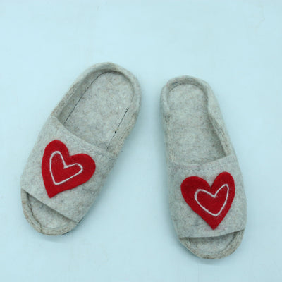 Warm and Cozy Slipper-Woolen Felted Slipper-Women shoes