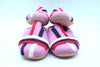 100% Wool Felted Slipper with Beautiful Stripe Designed-Pink Colors-Women Shoe