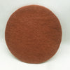 Natural Handmade Felted Wool Umber Color 6 Seat Pads