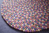 Multicolor Round Felted Rug-100% Woolen Handmade Felted Ball Rug