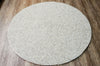 Grey with Other Colored (90cm Diameter) Round Felted Rug-100% Woolen Handmade Felted Ball Rug