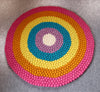 Round Color Pattern Felted Rug-100% Woolen Handmade Felted Ball Rug- Multicolors Round Rug