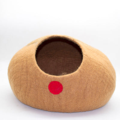 Rudolph Christmas Bed Felt Cat Cave