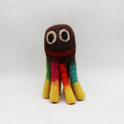 "9"" Felted Woolen Octopus Dog's Toy"