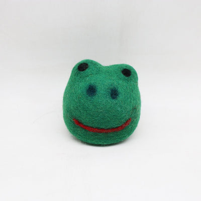 Four (4) Set of Frog Head Felt Dog Toys