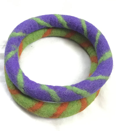 2 pieces of each color Fetch 100% Woolen Ring Felted Dog Toys- 4 pieces in 1 packet