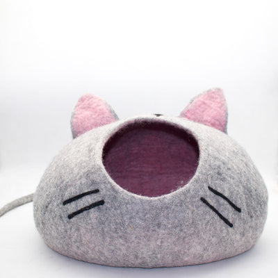 Cat Mouth Felt Cat Cave-Cat Bed- Woolen Cat Bed
