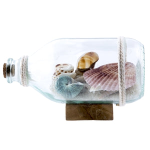 Shells Bottle & Sand on Stand