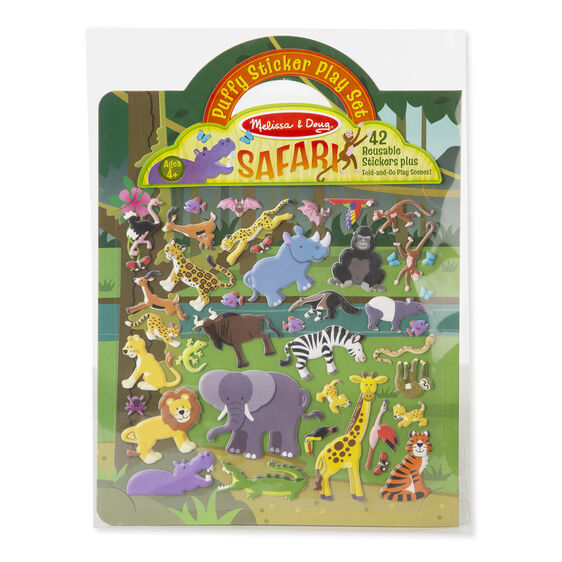 Sticker Set - Safari - Puffy Play Set