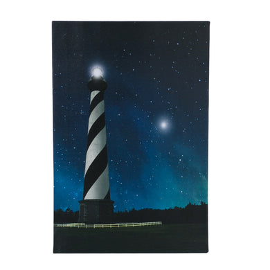 Wall Décor - LED Lighthouse Canvas