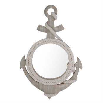 Mirror - Anchor Shape w/Rope