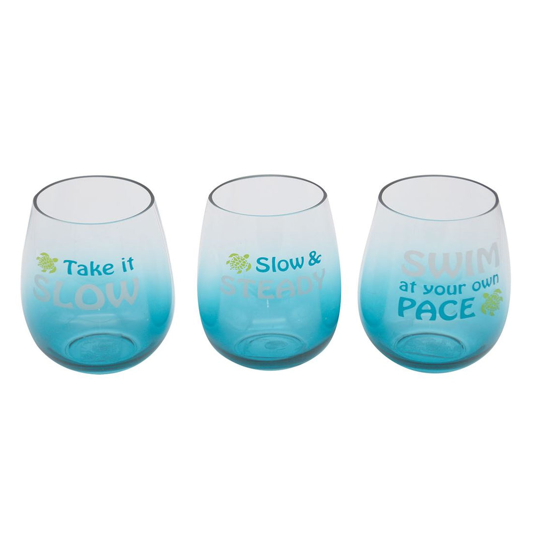 Wine Glass - Stemless Turtle