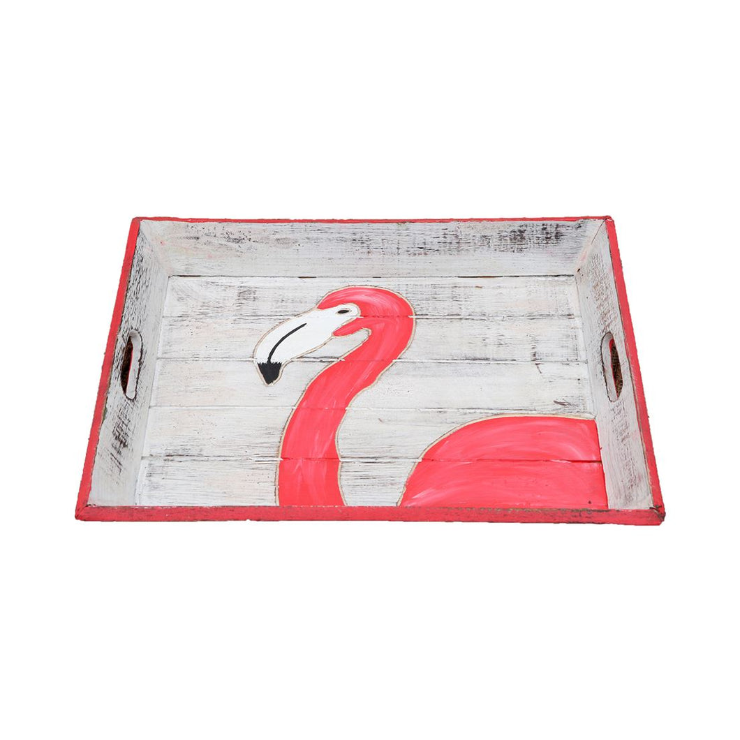 Tray - Flamingo Carved