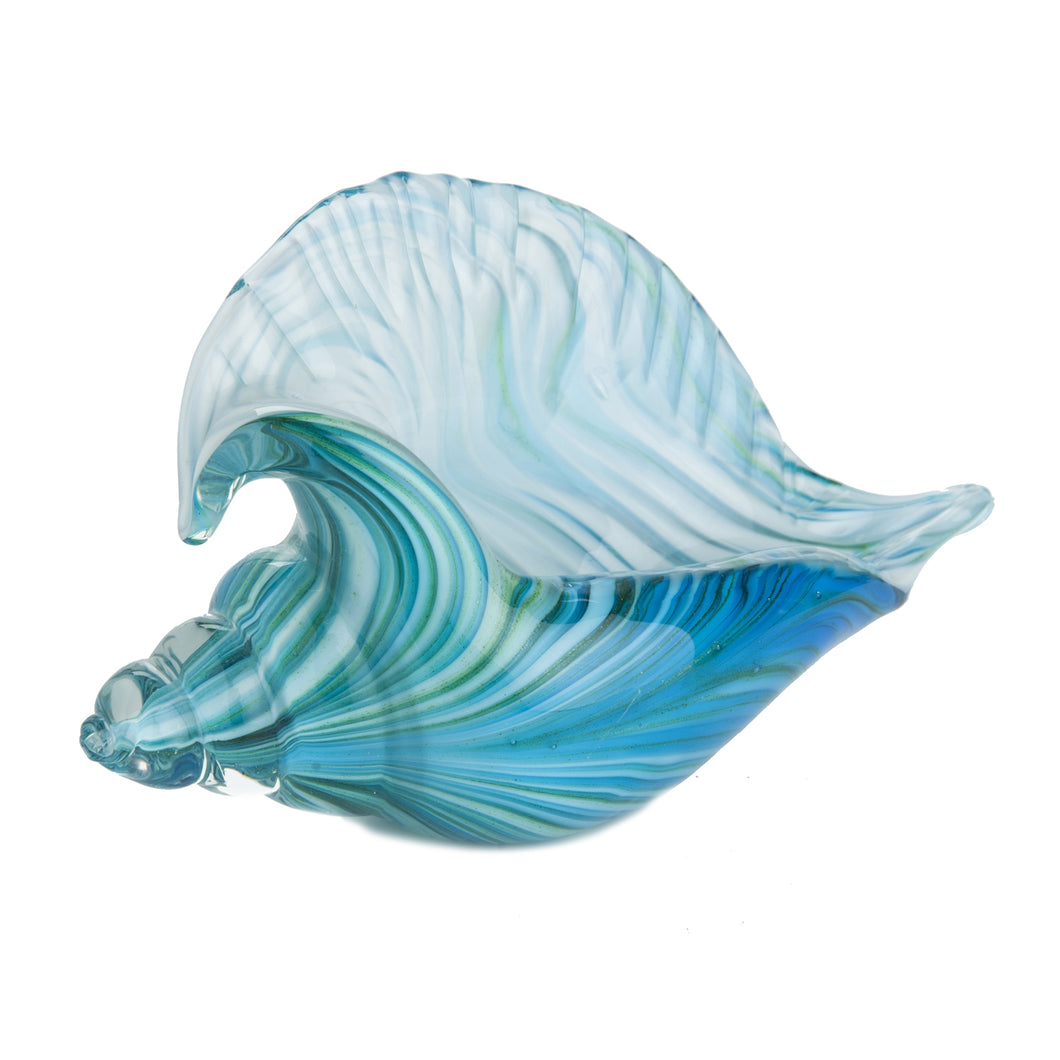 Glass Art - Conch Shell Teal