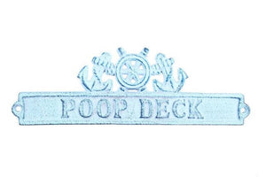 Sign - Cast Iron Poop Deck Sign 9""
