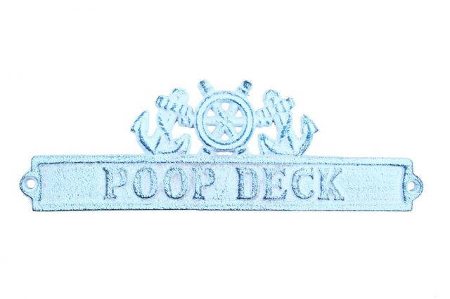 Sign - Cast Iron Poop Deck Sign 9