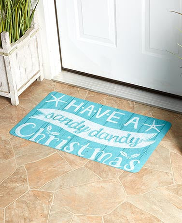 Rug - Welcome Mat - Sandy Christmas